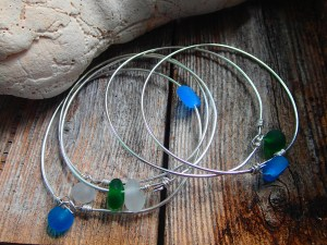 seaglassy bangles