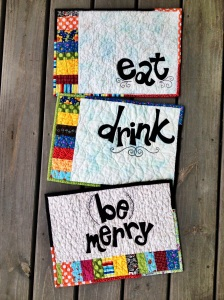 eat drink be merry placemats