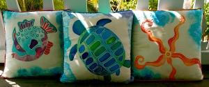 silk pillow trio