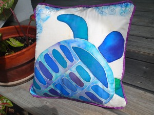 silk turtle pillow